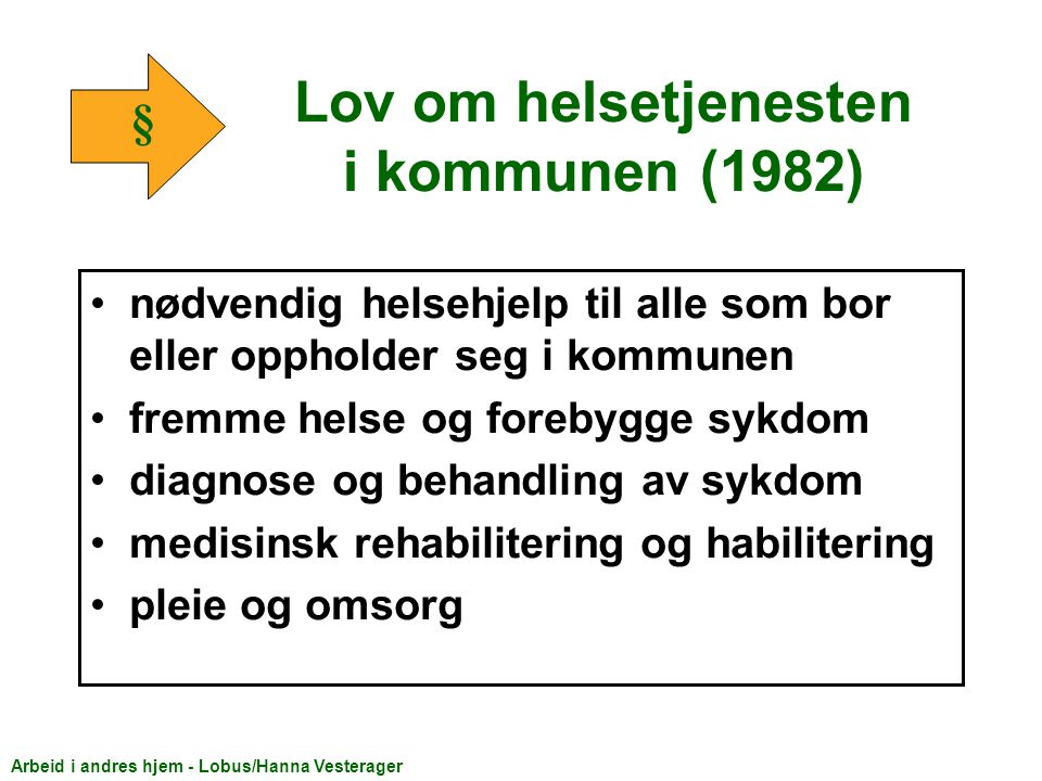 Lov om helsetjenesten i kommunen (1982)