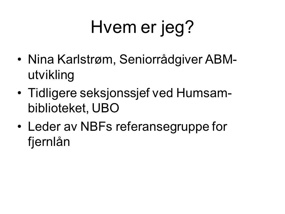 Hvem er jeg Nina Karlstrøm, Seniorrådgiver ABM-utvikling