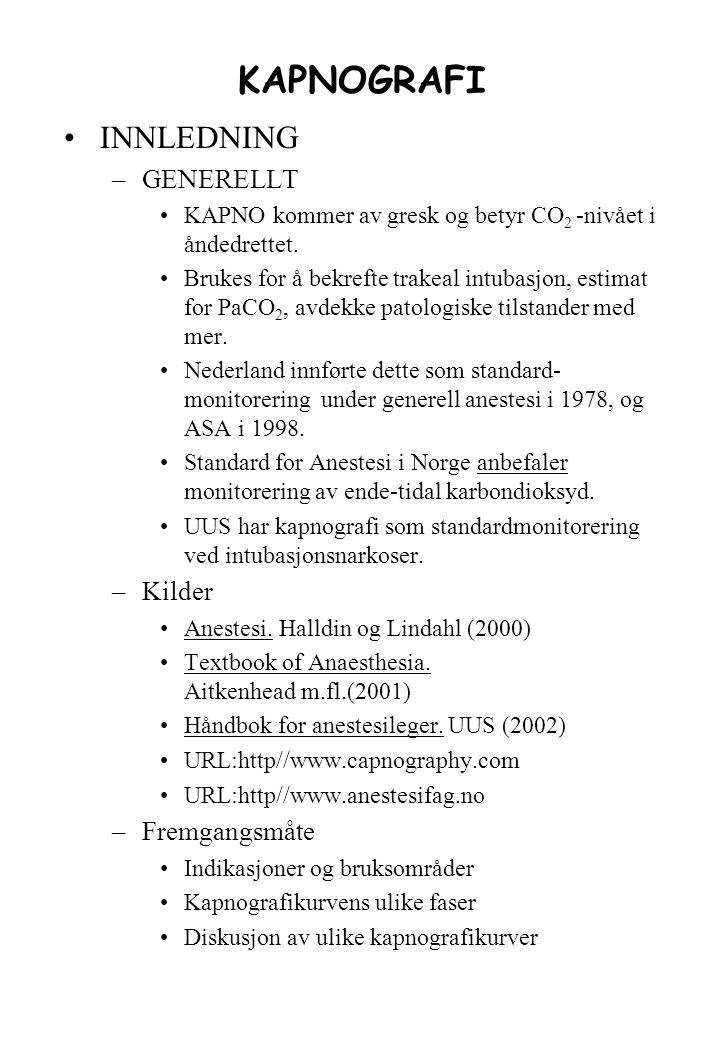 alvorlig kols og narkose