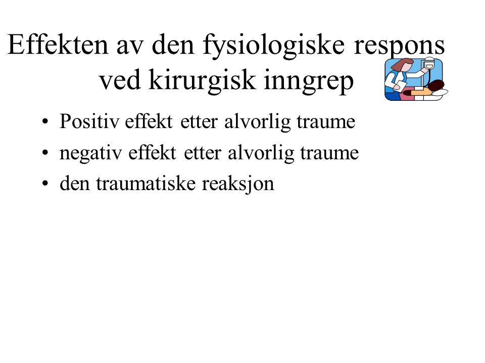 Effekten av den fysiologiske respons ved kirurgisk inngrep