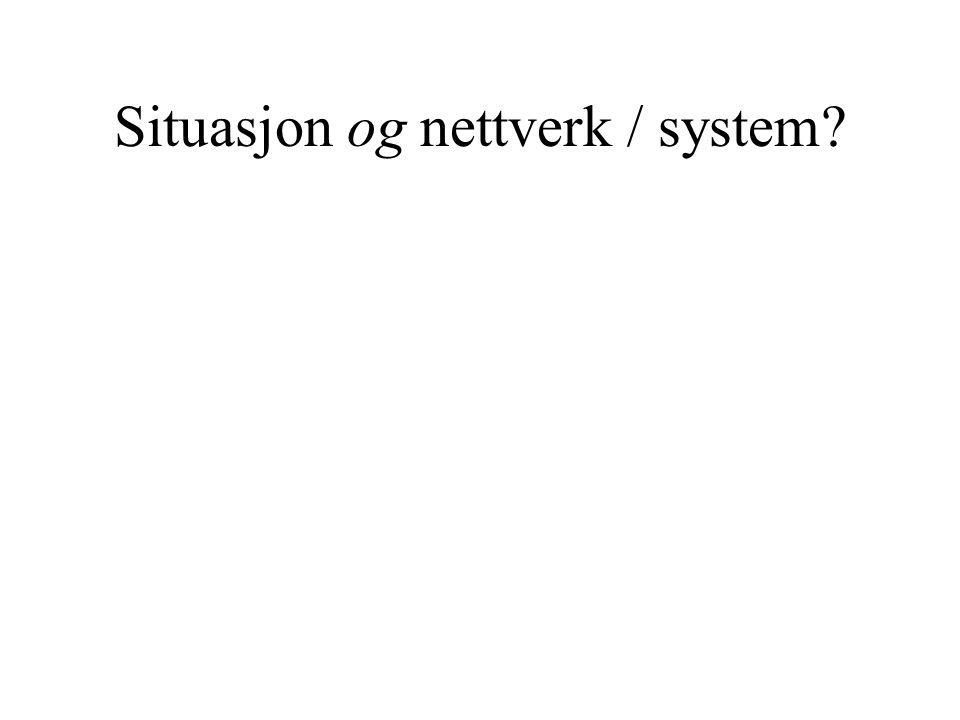Situasjon og nettverk / system
