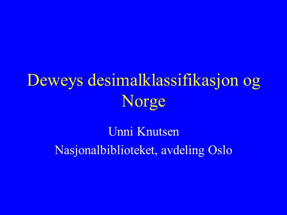Deweys desimalklassifikasjon og Norge