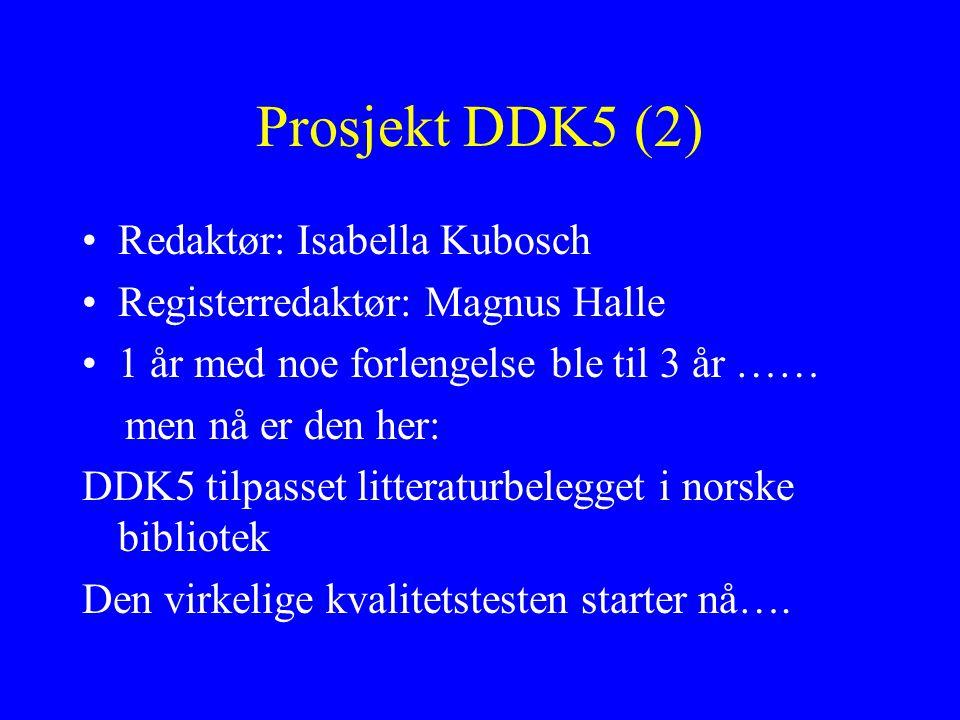 Prosjekt DDK5 (2) Redaktør: Isabella Kubosch