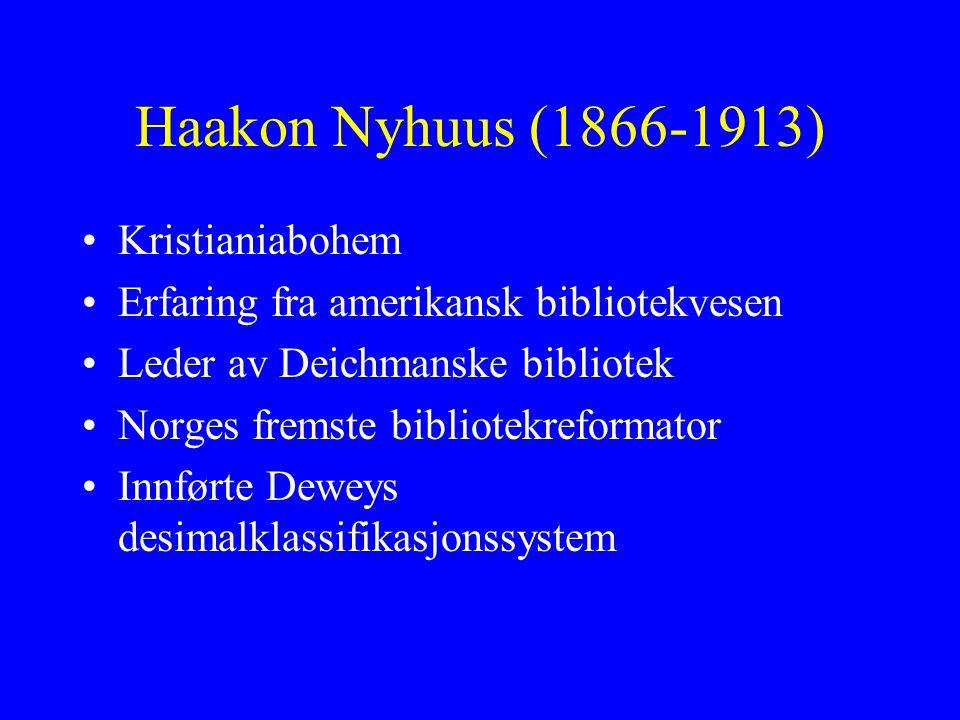 Haakon Nyhuus (1866-1913) Kristianiabohem