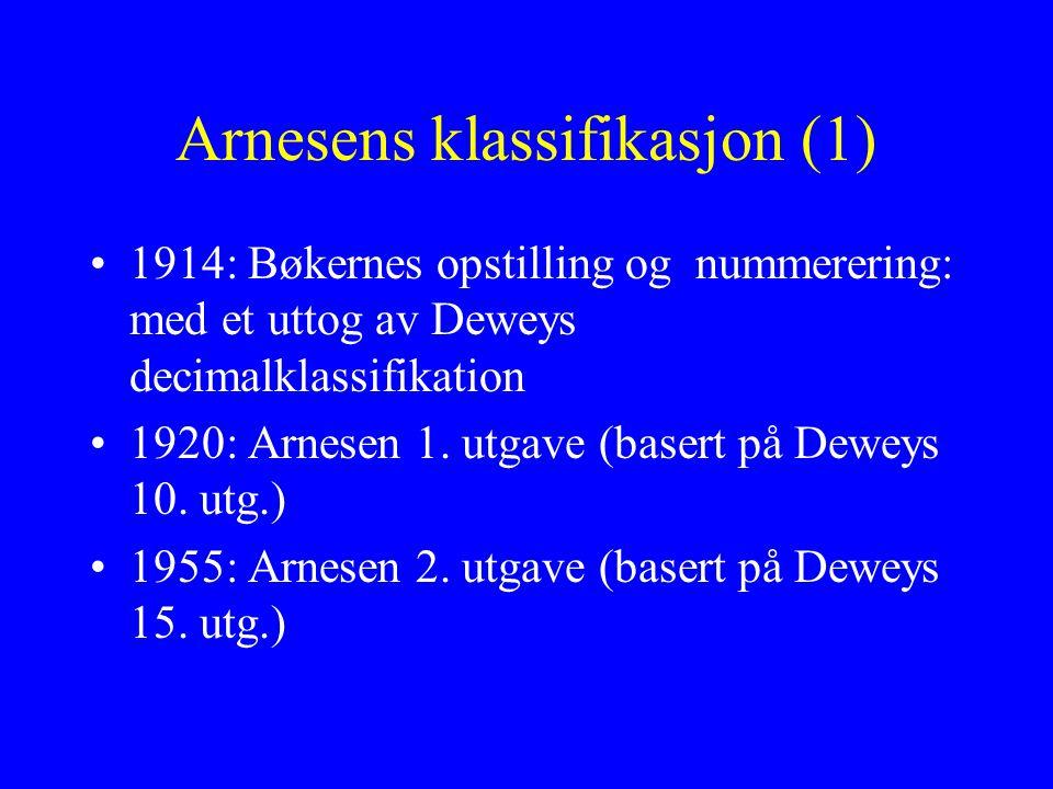 Arnesens klassifikasjon (1)