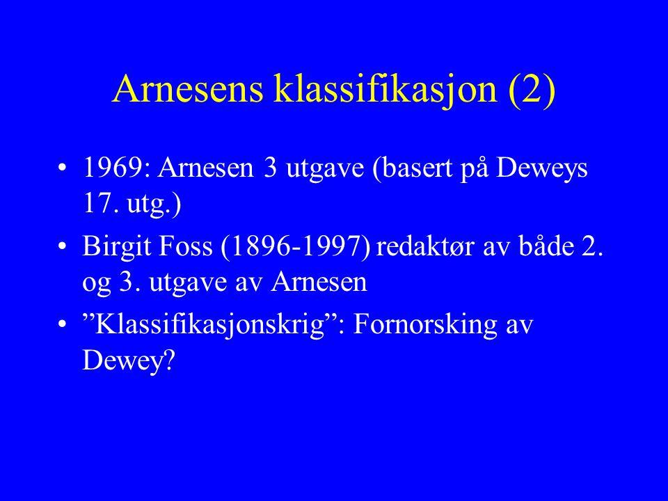 Arnesens klassifikasjon (2)