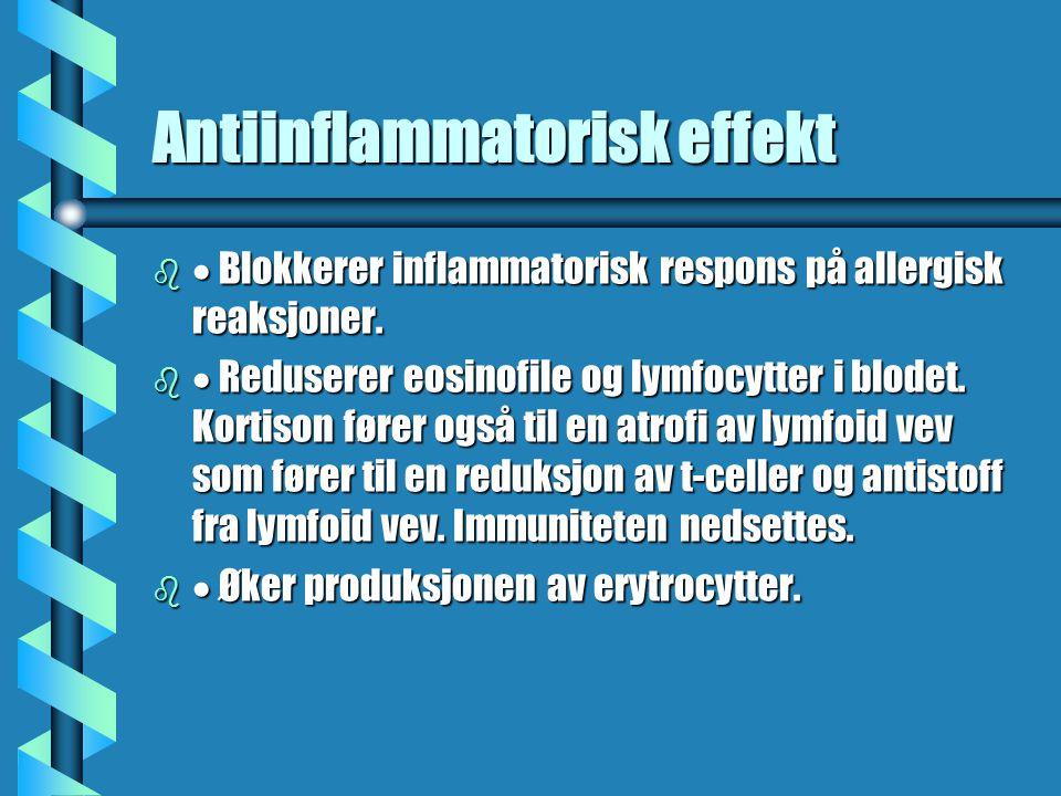 Antiinflammatorisk effekt