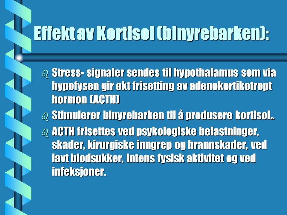 Effekt av Kortisol (binyrebarken):
