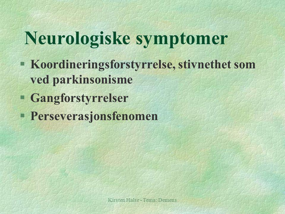 Neurologiske symptomer