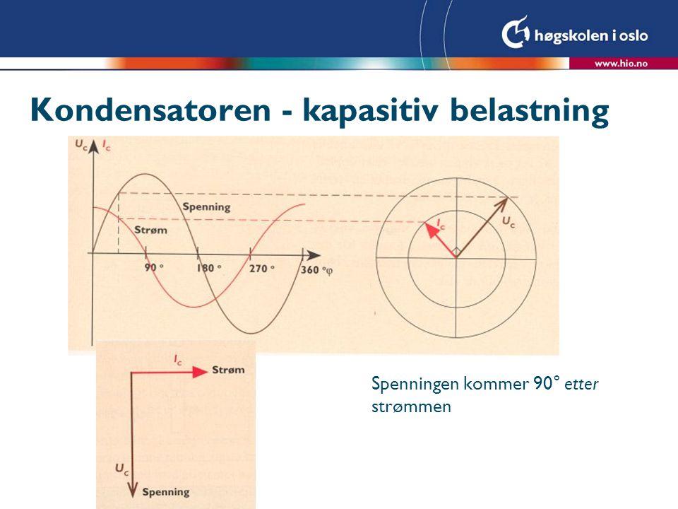 Kondensatoren - kapasitiv belastning