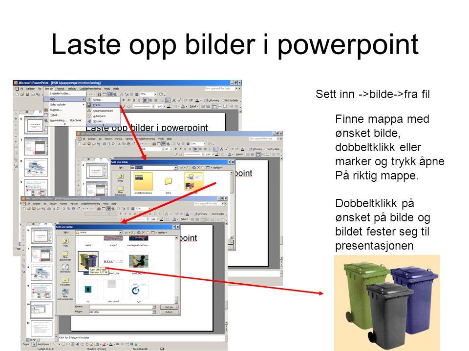 Laste opp bilder i powerpoint