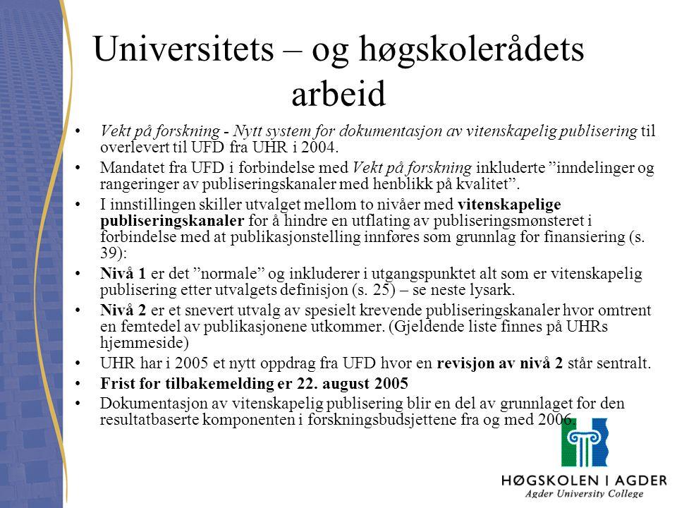 Universitets – og høgskolerådets arbeid