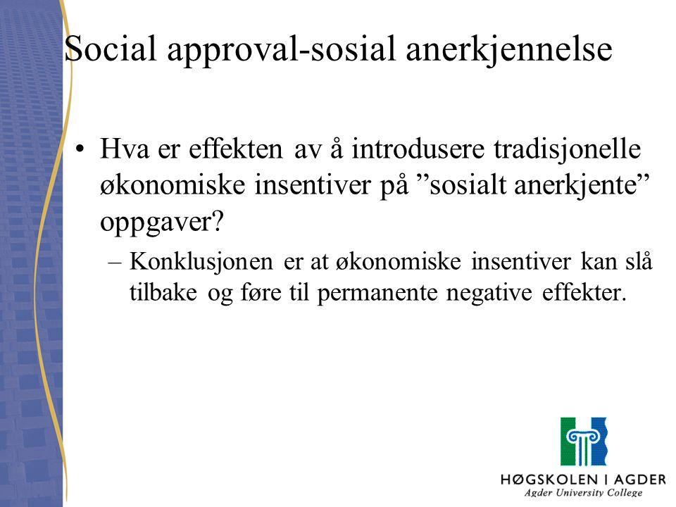 Social approval-sosial anerkjennelse