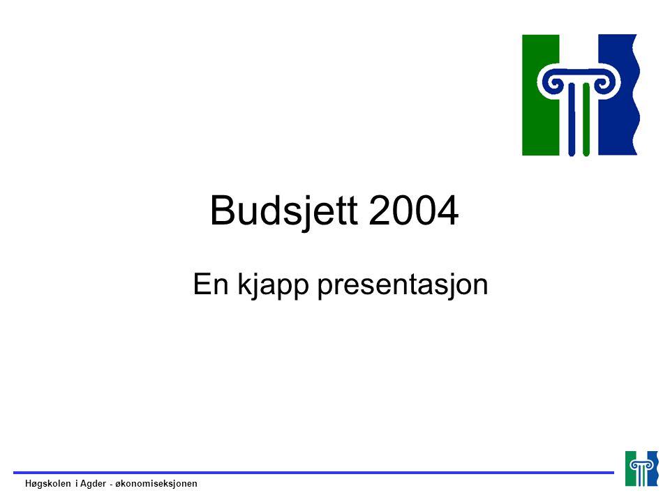 Budsjett 2004 En kjapp presentasjon