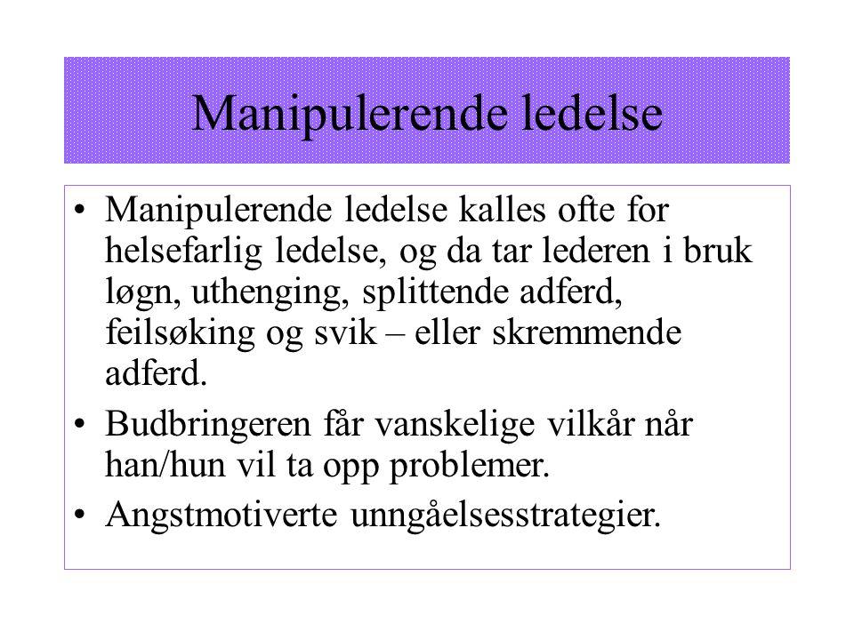 Manipulerende ledelse