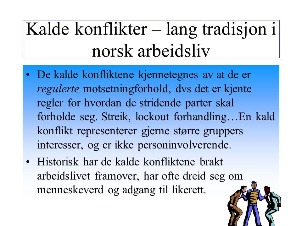 Kalde konflikter – lang tradisjon i norsk arbeidsliv