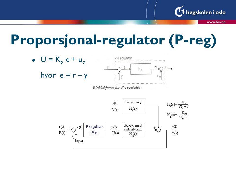 Proporsjonal-regulator (P-reg)