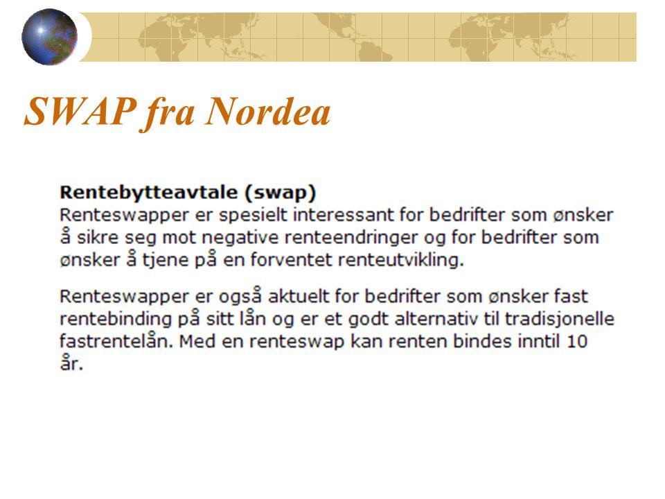 SWAP fra Nordea