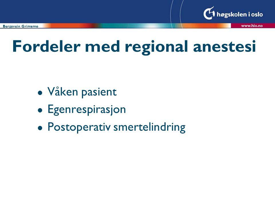 Fordeler med regional anestesi