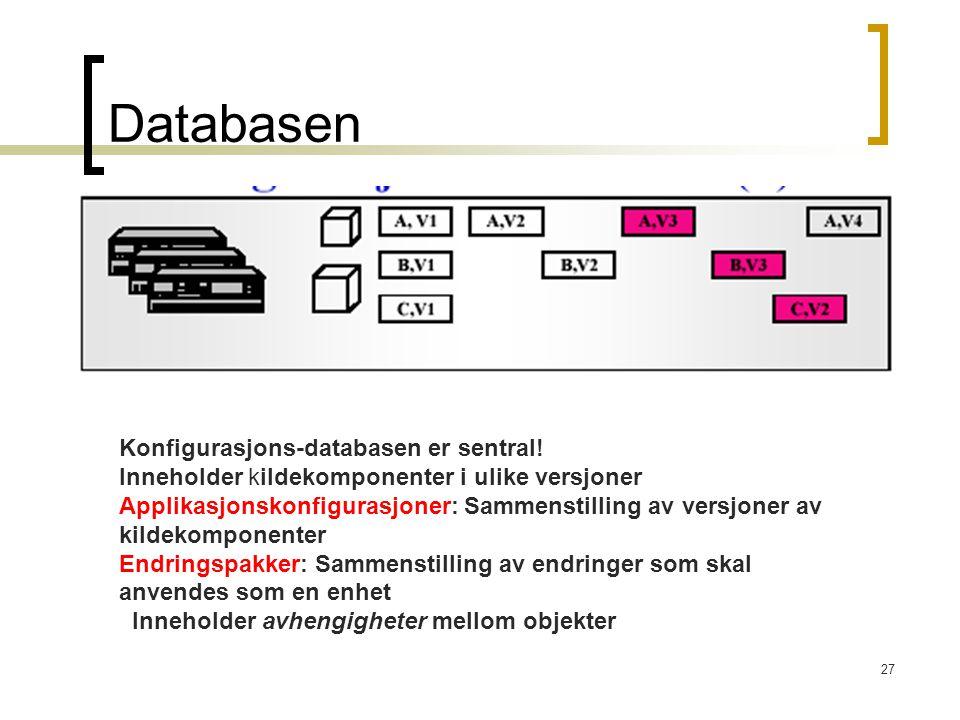 Databasen Konfigurasjons-databasen er sentral!