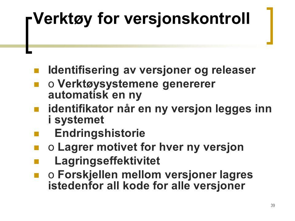 Verktøy for versjonskontroll
