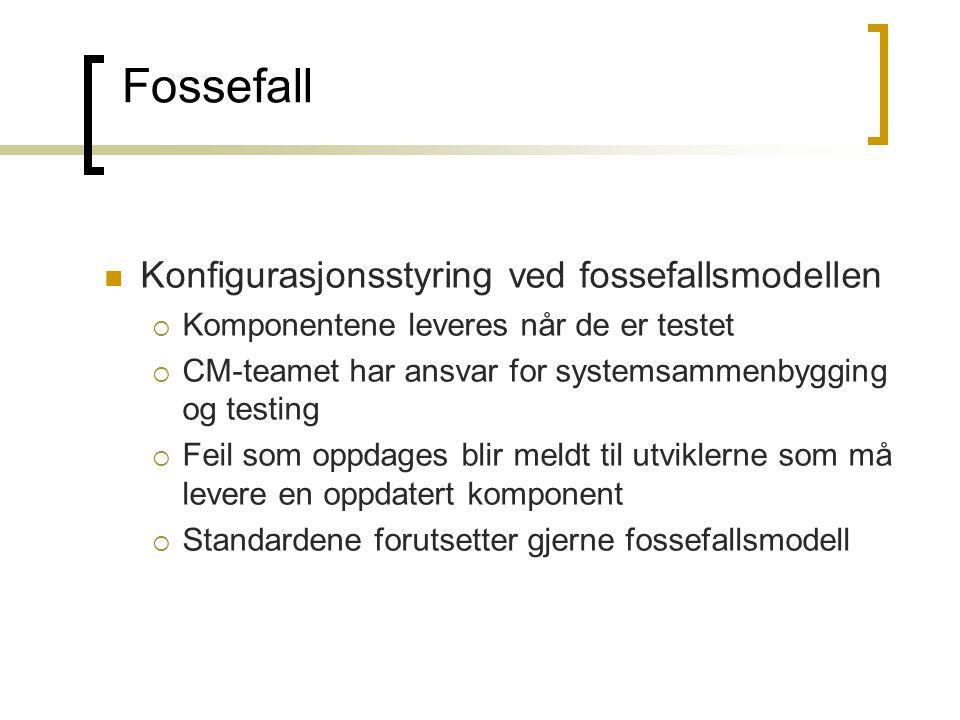 Fossefall Konfigurasjonsstyring ved fossefallsmodellen