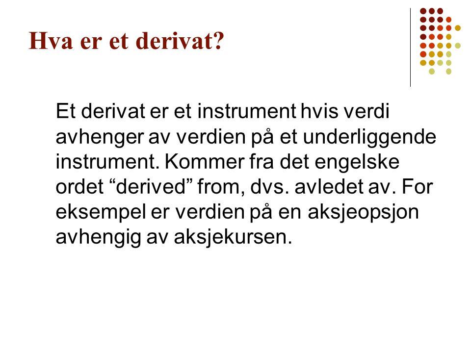 Hva er et derivat