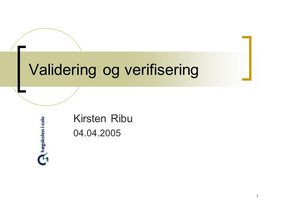Validering og verifisering