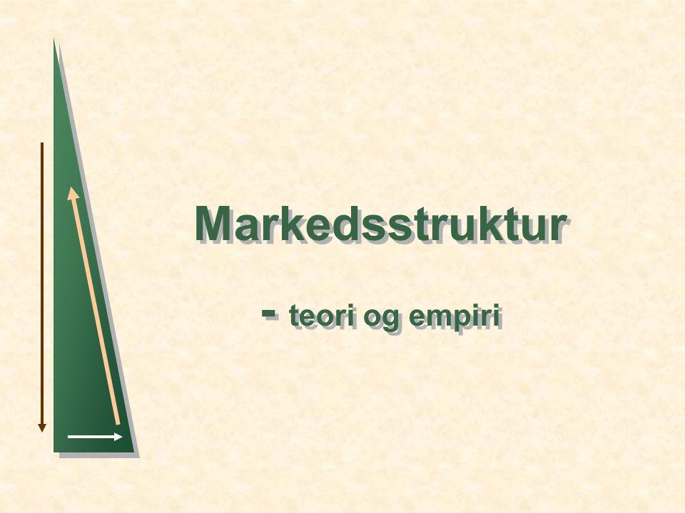 Markedsstruktur - teori og empiri
