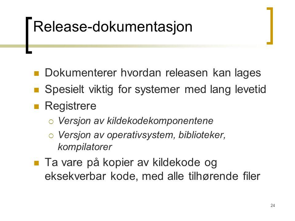 Release-dokumentasjon