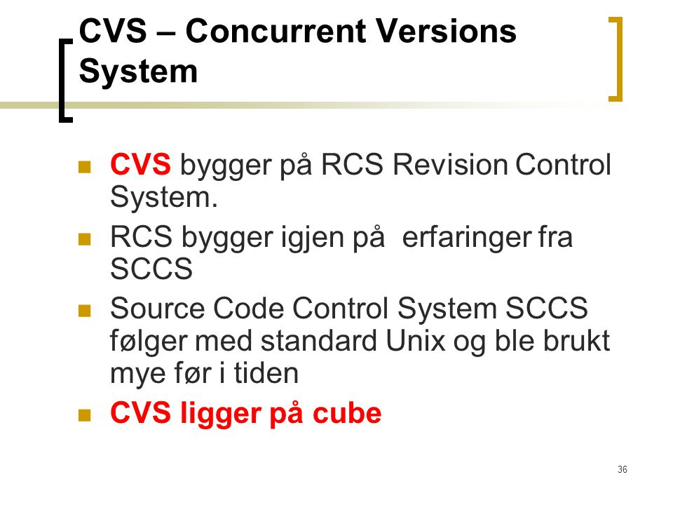 CVS – Concurrent Versions System