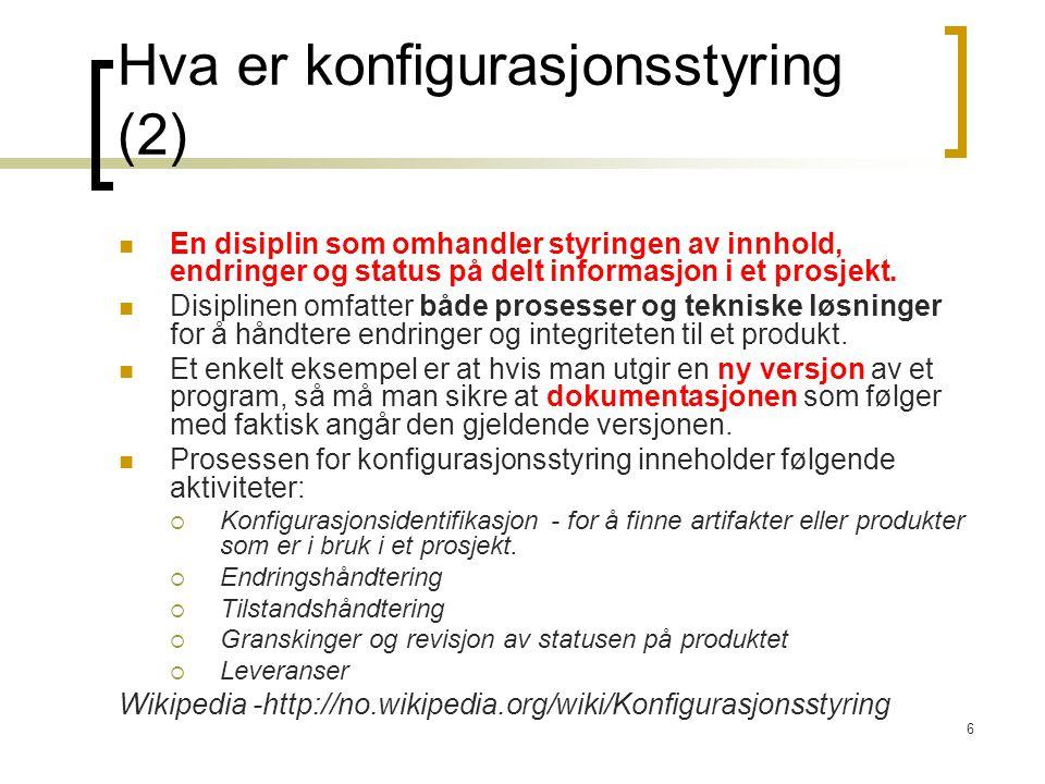 Hva er konfigurasjonsstyring (2)