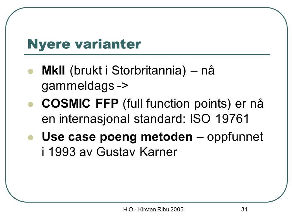 Nyere varianter MkII (brukt i Storbritannia) – nå gammeldags ->