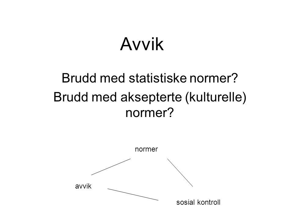 Avvik Brudd med statistiske normer