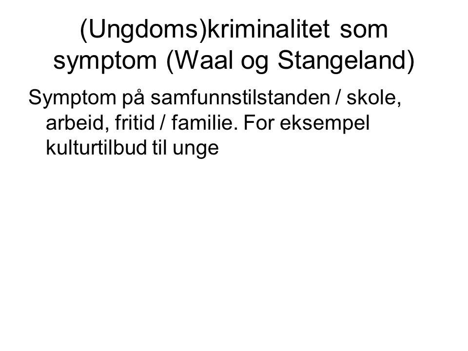 (Ungdoms)kriminalitet som symptom (Waal og Stangeland)