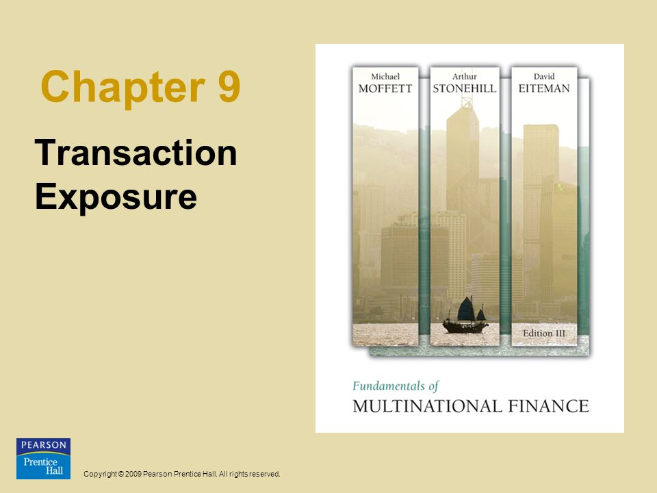 Chapter 9 Transaction Exposure