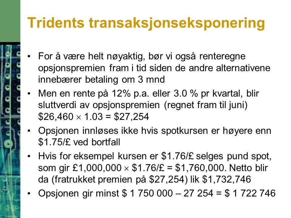 Tridents transaksjonseksponering