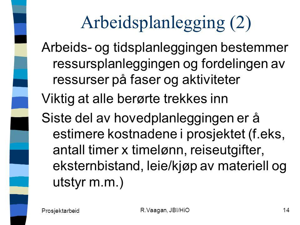 Arbeidsplanlegging (2)