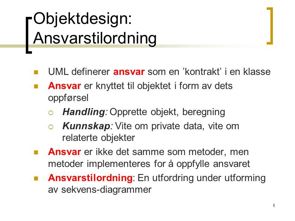 Objektdesign: Ansvarstilordning