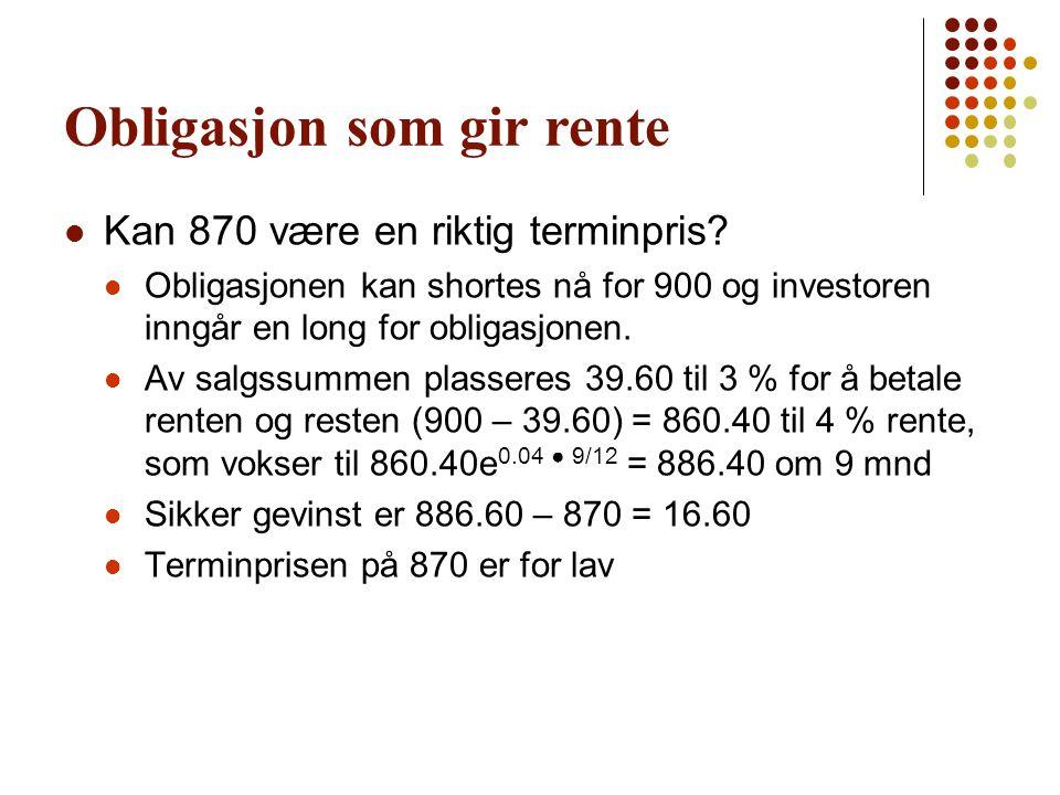 Obligasjon som gir rente