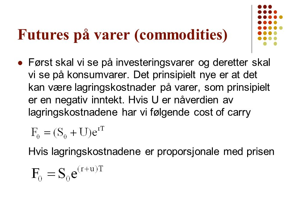 Futures på varer (commodities)