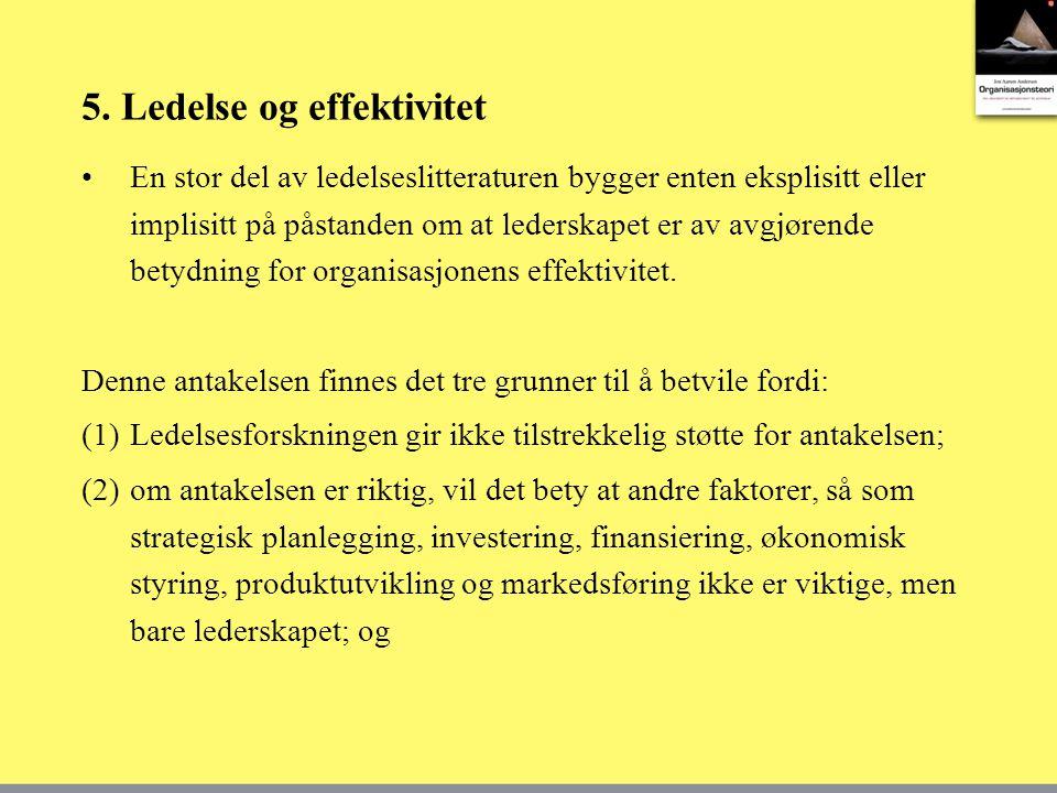 5. Ledelse og effektivitet