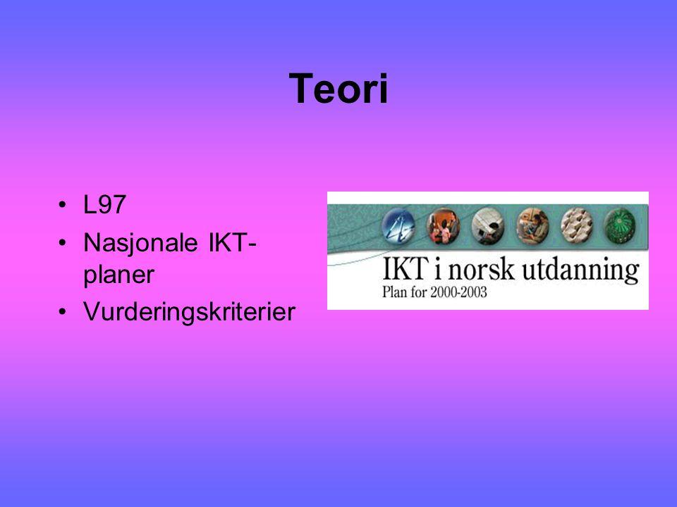 Teori L97 Nasjonale IKT-planer Vurderingskriterier