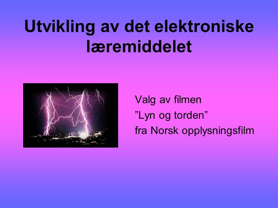Utvikling av det elektroniske læremiddelet