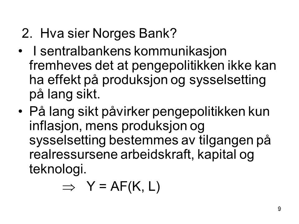 2. Hva sier Norges Bank