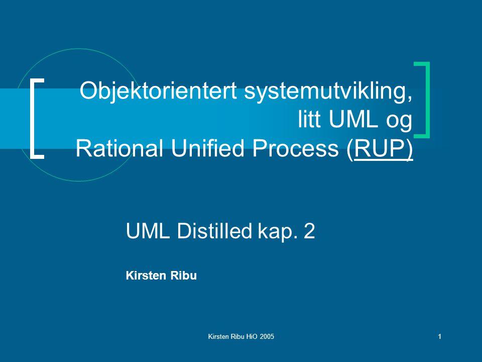 UML Distilled kap. 2 Kirsten Ribu