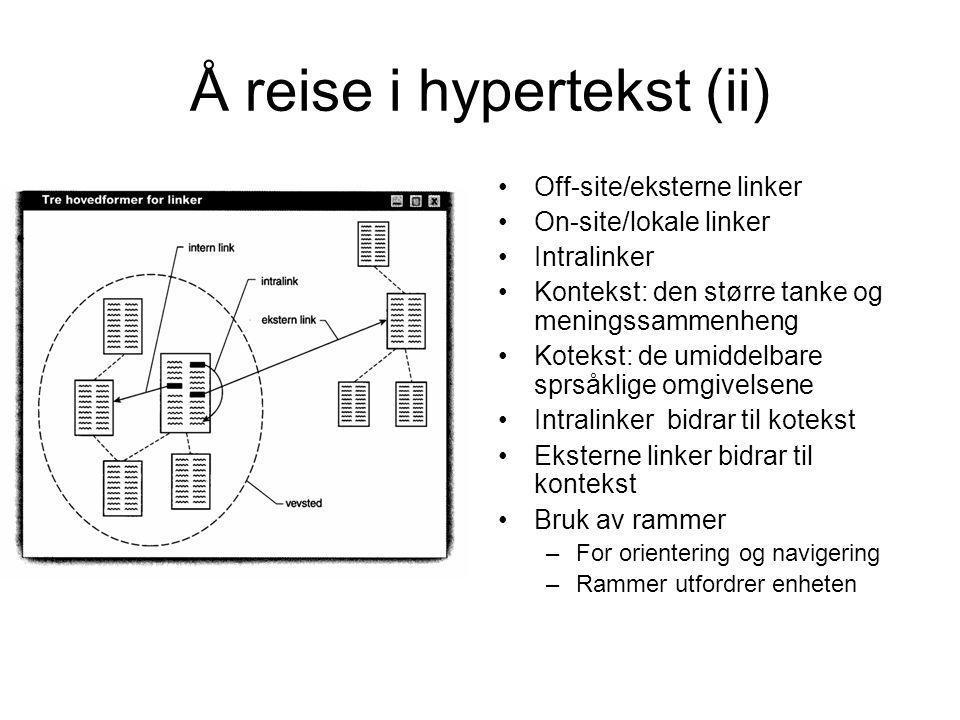 Å reise i hypertekst (ii)