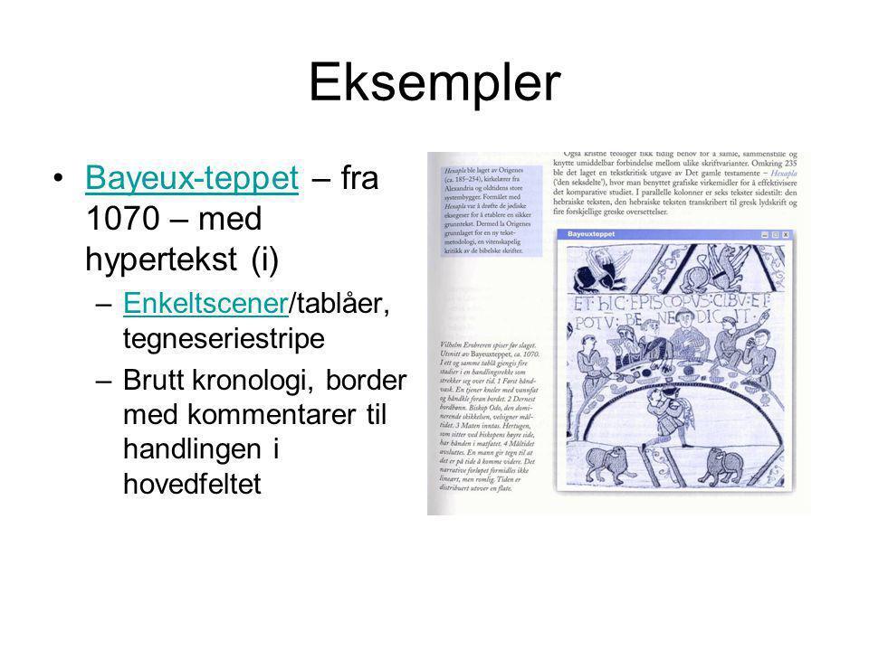 Eksempler Bayeux-teppet – fra 1070 – med hypertekst (i)
