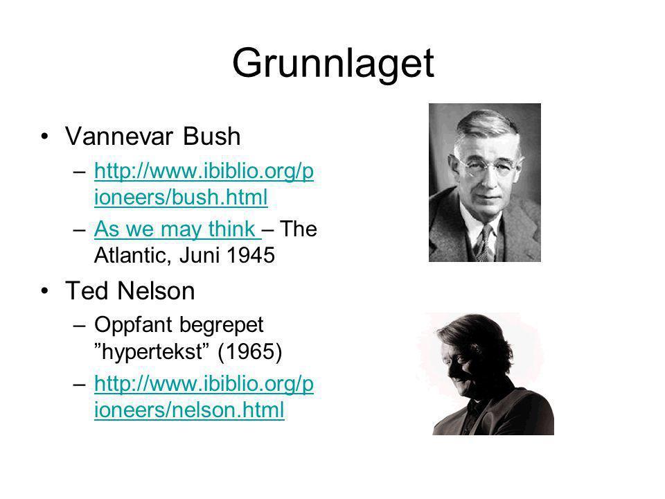 Grunnlaget Vannevar Bush Ted Nelson