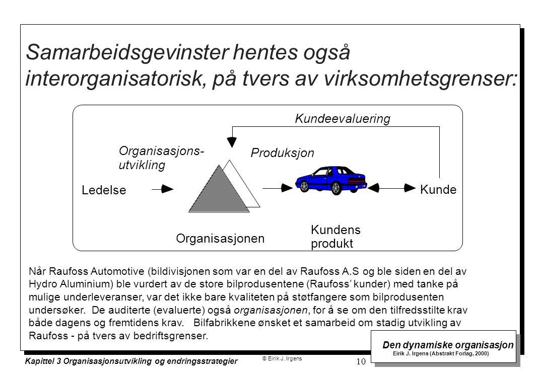 Samarbeidsgevinster hentes også interorganisatorisk, på tvers av virksomhetsgrenser: